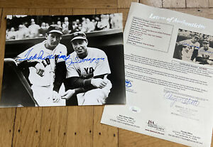 + Ted Williams Joe DiMaggio Signed Autograph Auto 8x10 Photo Dugout JSA COA