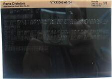 Honda VTX1300S 2003 2004 Parts List Microfiche h377