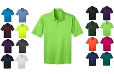 BIG & TALL Port Authority polyester Silk Touch dri tech fit Polo GOLF shirt