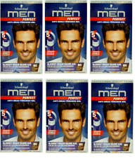 6-Pack Schwarzkopf Men Perfect Hair Gel 80 Natural Brown-Black FREE SHIPPING*