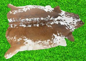 "New Cowhide Rug Hair On COW HIDE Rug Area Rug (63"" x 60"") Animal Carpet 26.3 SF"