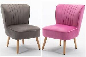 Velvet Accent Cocktail Sofa Armchair Bedroom Lounge Tub Chair Upholstered