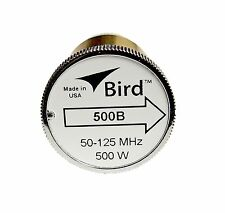 Bird 500B Plug-in Element 0 to 500 watts 50-125 MHz for Bird 43 Wattmeters
