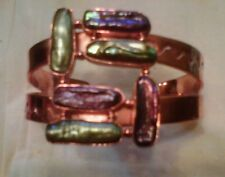Jay King Mine Finds Copper Biwa Green and Purple Cuff Bracelet - NIB