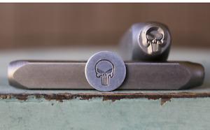 SUPPLY GUY 8mm Skull Head Metal Punch Design Stamp SGCH-441