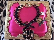Betsey Johnson Vintage Miami Chic Travel Vacation Suitcase Dress Hat Bracelet