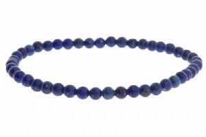 Lapis Lazuli  Kugel Stretch Edelstein Schmuck Armband 4mm 19cm - HS1264