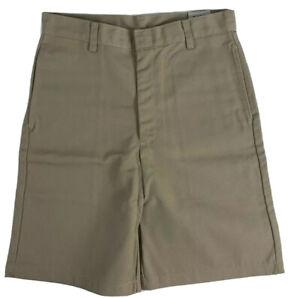K12 Gear Boys School Uniform Shorts NWT 6447BR Khaki/Navy Var. Sizes UNI13