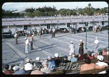 1955  red border kodachrome Photo slide Sarasota FL Municipal Shuffleboard