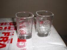 JACK DANIELS TENNESSEE WHISKEY PAIR OF EMBOSSED SHOT GLASSES