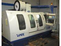 2000 MIGHTY VIPER VMC-1230-AG 50 x 25 x 25 50 TAPER 6K RPM 20HP MAGIC PRO 64