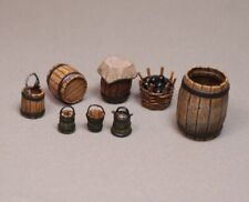 Painted Tin Toy Soldier Artillery Accessories Set #2 54mm 1/32