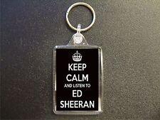 KEEP CALM AND LISTEN TO ED SHEERAN KEYRING BAG TAG BIRTHDAY GIFT
