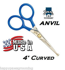 USA MADE TOP PERFORMANCE PET GROOMING CURVED Safety/Blunt End/Tip Shear Scissor