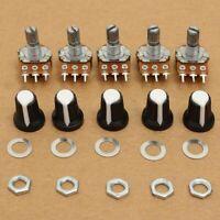 5Pcs 10K OHM Linear Mono Stereo Pot Rotary Resistor Potentiometer Variable Knobs