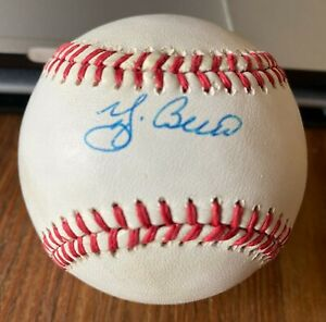 Yogi Berra Single Signed OAL B Brown Baseball Official American League NY Yankee