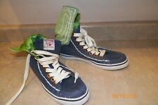 TRUE RELIGION Womens Navy Green Fold Over High Top Sneakers Shoes Size 7.5