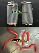 R&L aluminum radiator Honda CRF450R CRF450 CRF 450R 2015 2016 15 16+RED hose