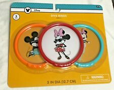 Mickey Mouse Minnie Diva Dive Rings Swimming Pool Toy Disney 3 Three-Pack 2018