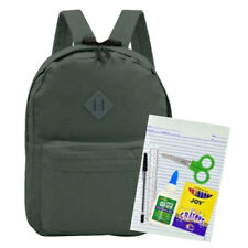 Everyday Deal 169 Nylon WaterproofBackpack(Grey Green) School Supplies #crzysre