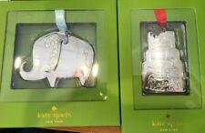 KATE SPADE DARLING POINT SILVERPLATE ORNAMENT:NIB ELEPHANT (BABY) CAKE (WEDDING)