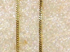 9ct Yellow   Gold   thin 18 inch  flat curb  chain  new # 3644