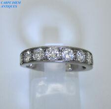 DAZZLING 1.26CT DIAMOND & PLATINUM HALF ETERNITY RING UK SIZE K 1/2 & USA 5 3/8