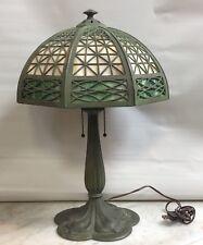 ALL ORIGINAL BRADLEY & HUBBARD ARTS & CRAFTS / MISSION STYLE PATINA LAMP