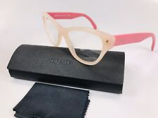 🔹Prada VPR 23S UEW-1O1 Two Toned Pink Eyeglasses 52mm with Case(Scratched Lens)