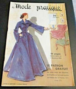 Magazine La MODE PRATIQUE  1er décembre  1950  n°23