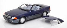 Mercedes R129 500 SL blue met. mit Hardtop diecast model car 180373 KK 1:18