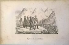 1846 NAPOLEONE ALLE PIRAMIDI D'EGITTO litografia Napoleon Egyptian pyramids