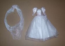 MATTEL BARBIE DOLL WEDDING BRIDAL DRESS GOWN AND VEIL CLOTHES NEW 1990S