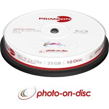 50 Primeon 2761309 Printable Blank BluRay SL BDR Discs 25GB 2x - 10x Ultra Speed