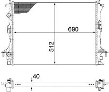 radiador del motor Radiador RENAULT ESPACE IV 02- 2 0dci 3.0 dCi 8200433512