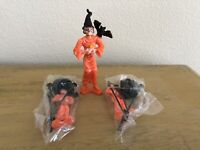 Vintage Halloween Scary Ugly Witch Cake Toppers Lot Of 3