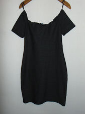 Atmosphere Womens Black Stretch Bodycon Bardot Dress Size 12