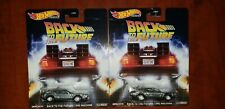 """[Lot of 2] 2020 Hot Wheels Premium """"Back To The Future"""" Time Machine-Real Riders"""