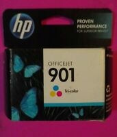 New Sealed Genuine HP 901 Tri-Color Ink Cartridge Expired 2014