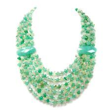 Luxus Diseñador Collar en Piedra Preciosa Aventurina y Prehnita 6 Hileras