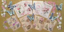 Craft clearout mix, card toppers/ paper die cuts, bundle joblot vintage Pretty 2