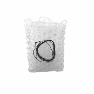 """FISHPOND NOMAD NATIVE 12.5"""" REPLACEMENT RUBBER NET BAG IN CLEAR COLOR"""