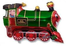 "Train Shaped Balloon 26"" Foil Balloon - Green"