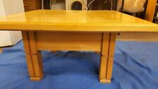 Vintage/Ret Handmade Extra Large Square Polished Pine Coffee Table one off piece