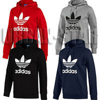 Adidas Originals Mens Trefoil Fleece Top Casual Hoody Mens - S, M, L, XL