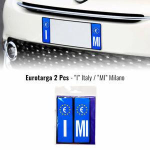 Adesivi Targa Auto Italia Europa Provincia Milano con Placchetta Rigida