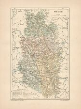 C9056 France - MEUSE - Cartina geografica antica - 1892 antique map