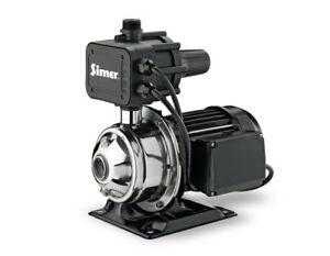 NEW SIMER 4075SS-01 3/4 HP WATER PRESSURE BOOSTER PUMP STAINLESS