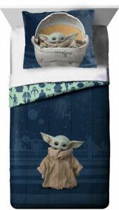 Star Wars: The Mandalorian Baby Yoda 2 Piece Twin Comforter set