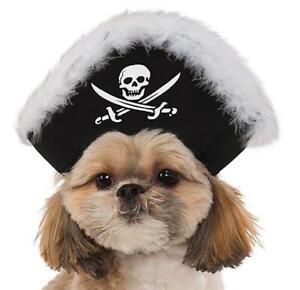 Pirate Hat Caribbean Fancy Dress Up Halloween Dog Cat Pet Costume Accessory